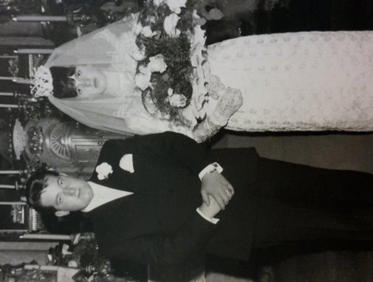Hochzeit Ma+Pa in der Kirche